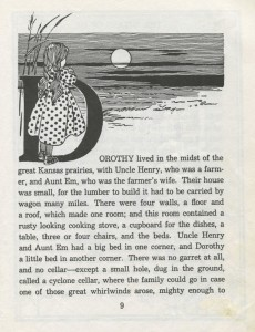 Wizard of Oz first page