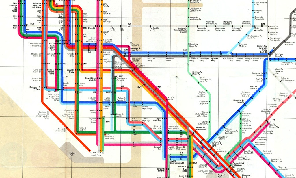 Massimo Vignelli 1972 Nyc Subway Map.Iconic Mapmaker Massimo Vignelli Farsickness Journal