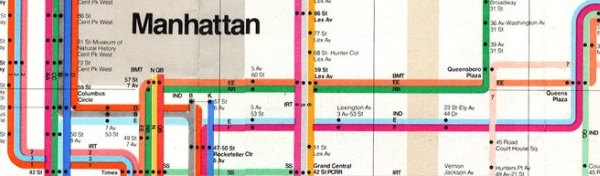 vignelli map closeup