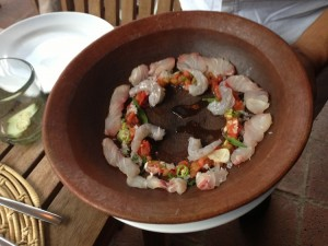 Casa Oaxaca - stone soup fish