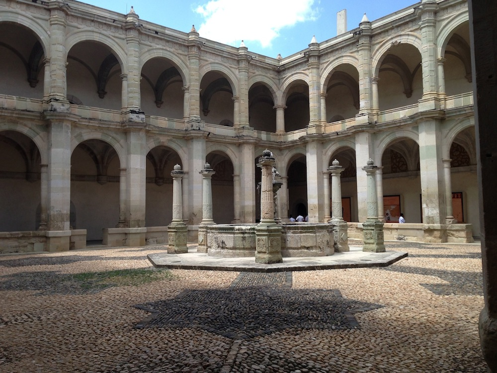 main courtyard of Ex Convento de Santo Domingo