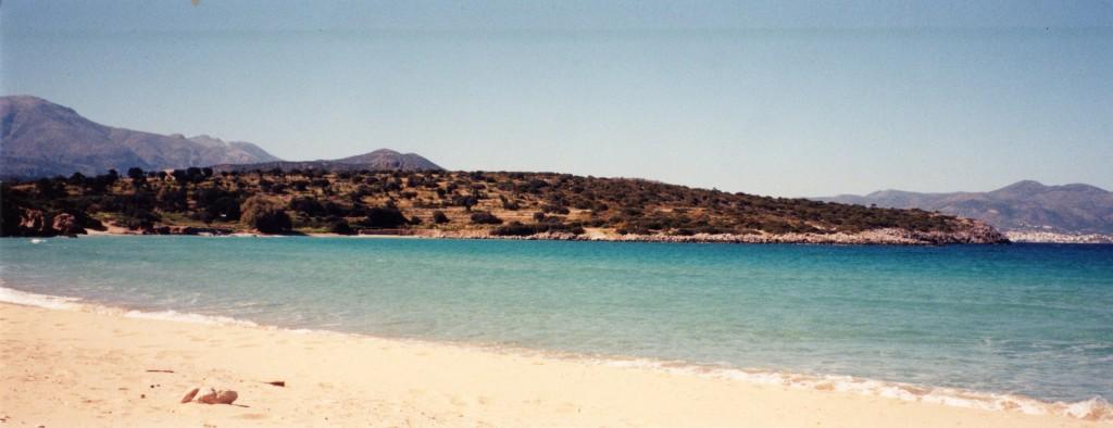 a coastline in Crete