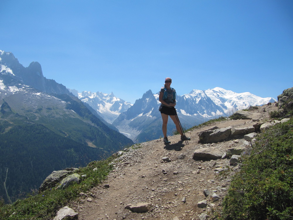 The author on the last day of Tour de Mont Blanc, just outside Chamonix, France, in 2015.